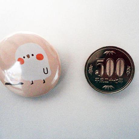 ぴすけとコーヒー缶バッチその2(カナヘイの小動物たち)