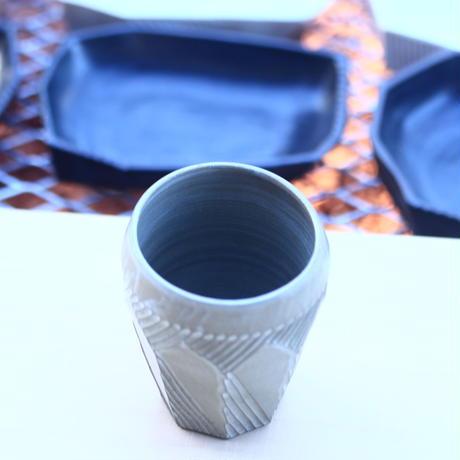 N/OH    食器    INORI   ビアカップ    (ブルーグレー釉)    no.122003
