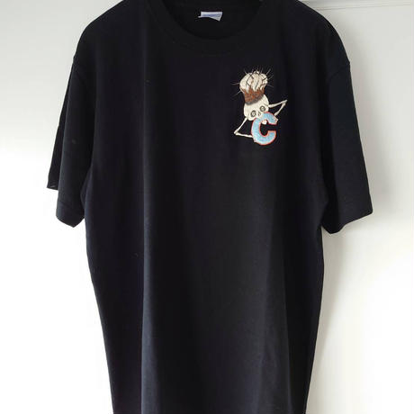 humanity×MENOSYAMA 【poorpatch T-shirt】CINEREA  HEAD T(BLACK)予約販売