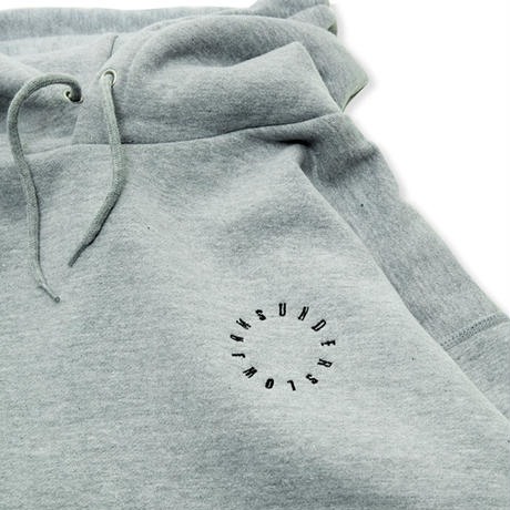 underslowjams CLOUD LOGO HOODIE   (heather gray)