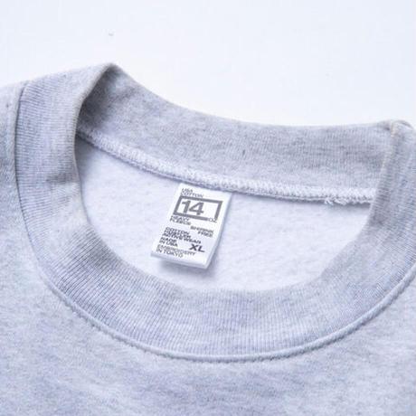 "COTTON HUSTLER ""DETOMASO "" CREW embroidery HEATHER GREY"