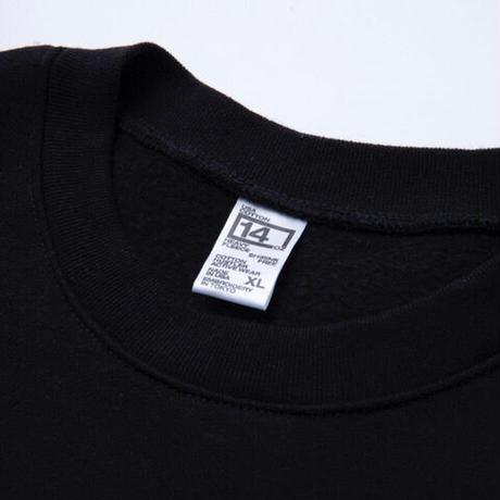 "COTTON HUSTLER ""DETOMASO "" CREW embroidery BLACK"