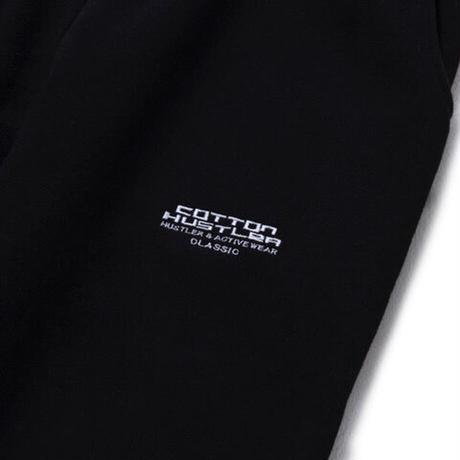 "COTTON HUSTLER ""CLASSIC"" LOGO SWEAT PANTS embroidery BLACK"