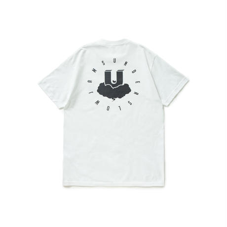 CLOUD LOGO TEE       WHITE / BLACK