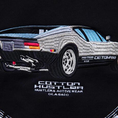"COTTON HUSTLER ""DETOMASO"" HOODIE embroidery BLACK"