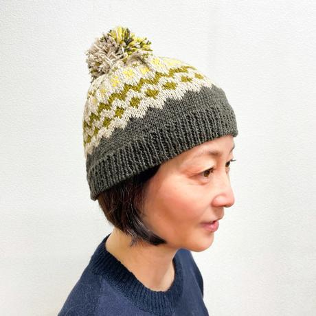 Gently(ジェントリー)編み込みニット帽 のキット
