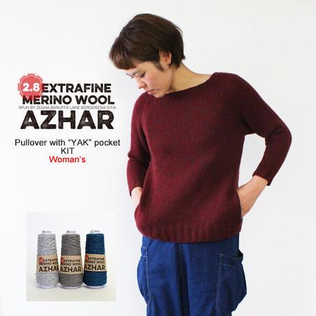 AZHAR(アザール)配色ポケット付きプルオーバーWOMEN'S 【ダウンロード・レシピ】