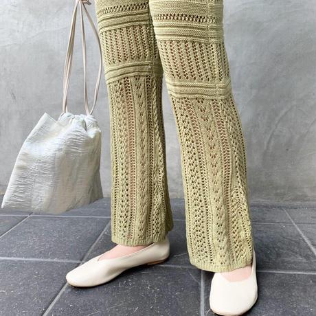 cotton knit flarepants