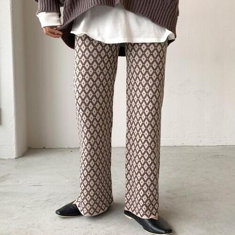 Jacguard knit pant