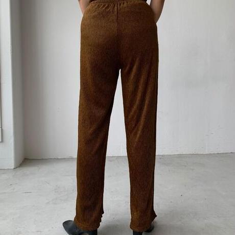 pleats velor pants