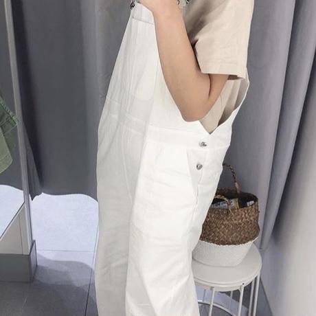 bi-color white salopette