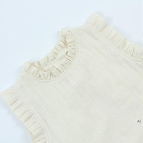 《ご予約》frill sleeveless blouse