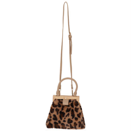 leopard  wood shoulderbag