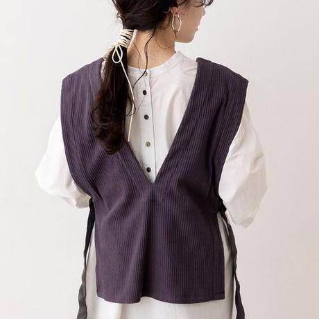 Jacquard rib  vest