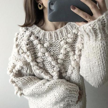 pompom mohair knit