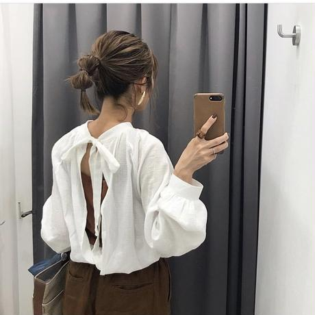 back  open blouse