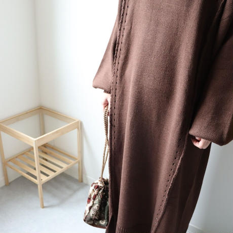 Linking knit one-piece