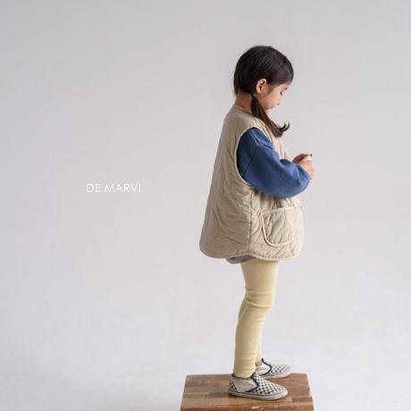 【ご予約】marvi rib leggins (junior)