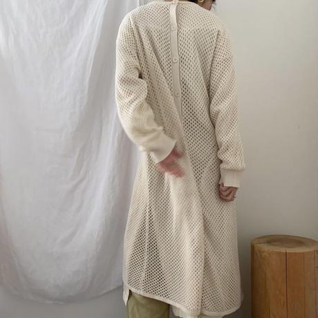 2way mesh knit cardigan