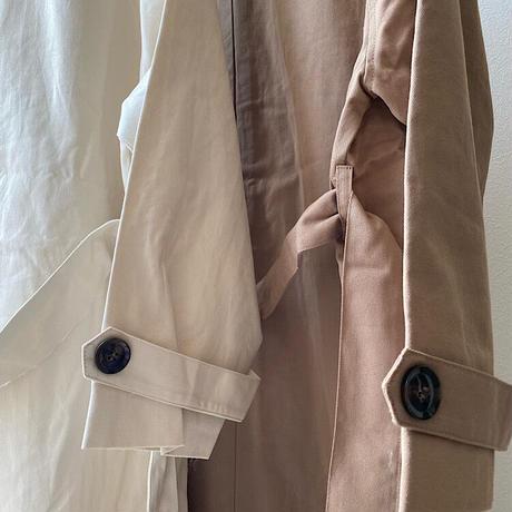 twill Balmacaan coat
