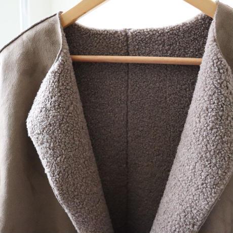 reversible fake mouton coat