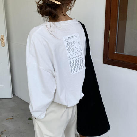 Back  Label tee