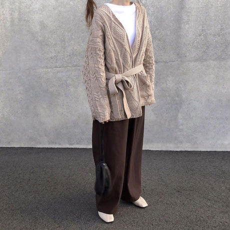 cable  knit gown  cardigan