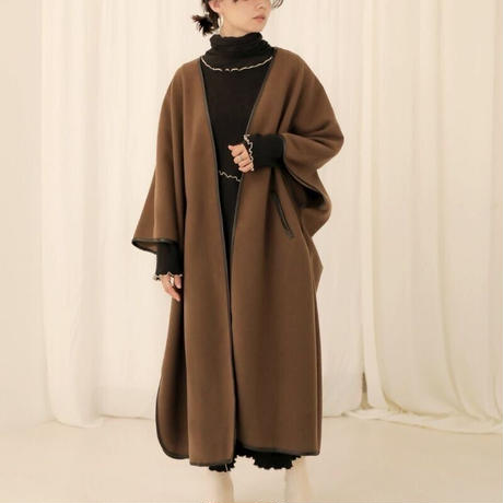 piping long gown coat