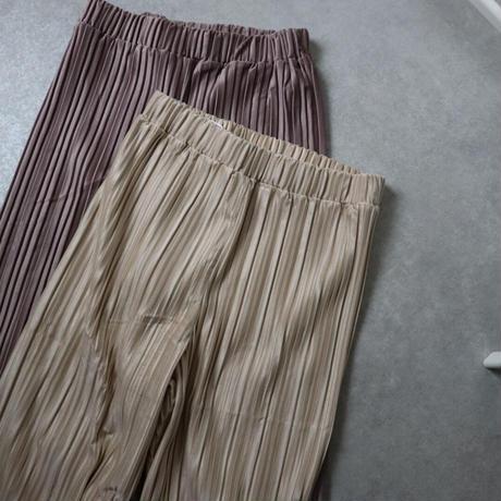 suede touch pleats pants