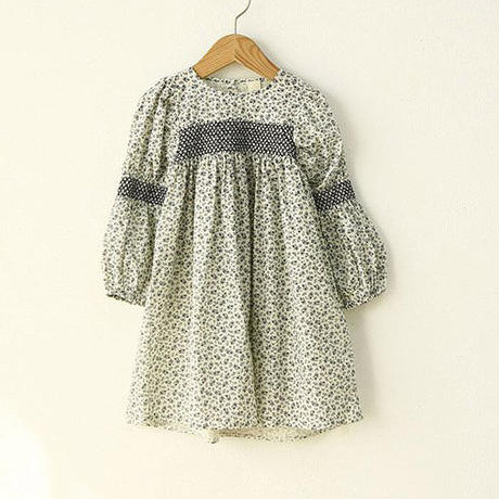 Shirring embroidery one-piece