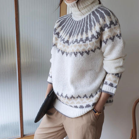 Nordic  turtleneck knit