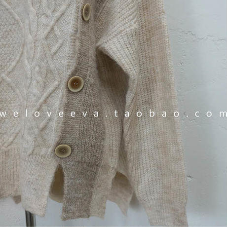 wool bicolor knit