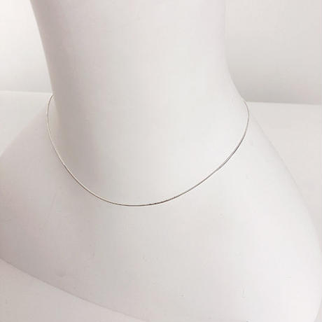 silver925 straight necklace