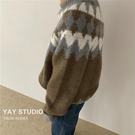 Wool Nordic knit