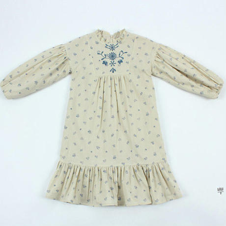 即納embroidery  flower   dress