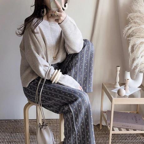 Jacquard knit pants