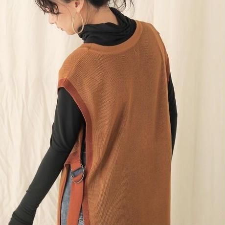 bi-color long vest