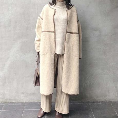piping boa coat