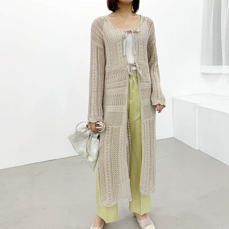 cotton  lace  2way cardigan