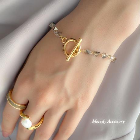 kusumi marble gold ring