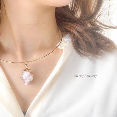 水晶原石ドゥルーシーネックレス