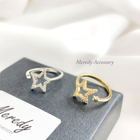 《ジルコニア使用》star 指輪