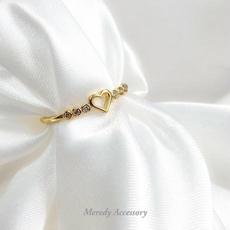 《ジルコニア使用》heart ring