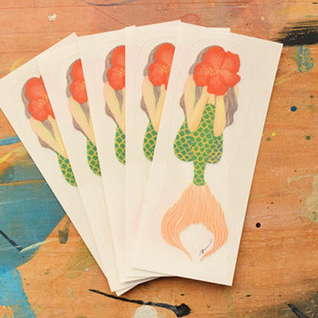 Hibiscus girl sticker