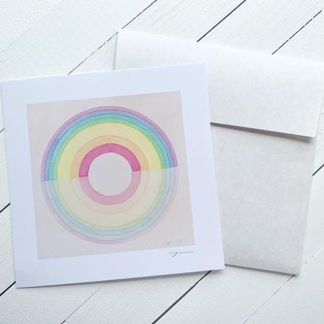 Rainbow circle メッセージカード