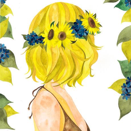 """post card """"sunflower bob"""""""