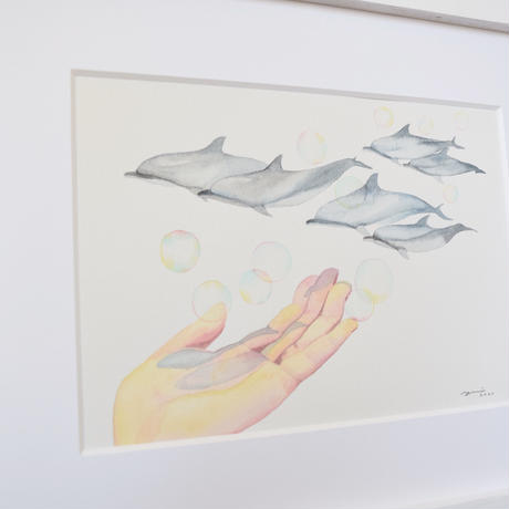 ドローイング原画 Dolphins