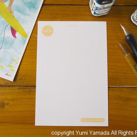 "post card ""sunflower fishbone"""
