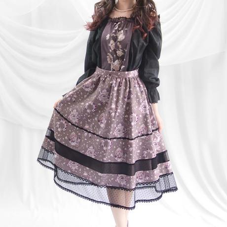 アリスのトランプダンス ハートチュール切替スカート -グレープグレー-