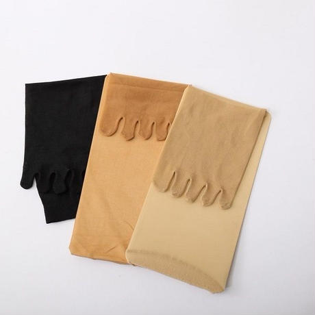 【送料無料】M~Lサイズ 5本指ストッキングパンスト3足組 カラー:明るく上品な肌色ベージュ★便利な定期便2ヶ月ごとにお届けします